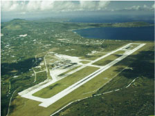 Saipan International Airport as seen from the air